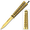 Swift Gold Balisong Butterfly Knife