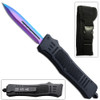 Titanium Legacy Edge OTF Knife Spear Point, Double Edged Blade