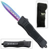 Limited Edition OTF Titanium Out The Front Automatic Double Edge Spear Point