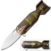 Spring Assisted Hand Bomb Style Knife WORK Army Green