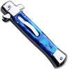 Italian Mafia Milano Knife Blue Handle