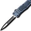 Carbon Fiber Legacy Edge OTF Knife Spear Point, Double Edged Blade