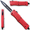 Red Legacy OTF Knife Spear Point, Double Edged Blade