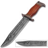 Handmade Damascus Steel Cocobolo Wood Handle Outback American Bowie Knife Ltd. Edition