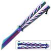 Rainbow Heavy Duty Butterfly Knife Tanto Twister Handle