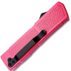 Lightning Pink Handle OTF Automatic Silver  Drop Point Blade
