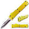 Electrifying California Legal OTF Dual Action Knife (Gold)