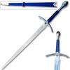 LOTR  Fantasy Glamdring Replica Sword Blue Leather Wood Scabbard