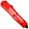 Make America Great - Trump 2020 Double Edge OTF Knife Out The Front Limited Edition