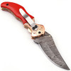 Custom Trump 2020  Damascus Folding Knife  Copper Bolster Exclusive Item