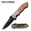 TAC-FORCE GENTLEMAN'S KNIFE PAKKA WOOD HANDLE