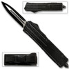 Black Spear Point OTF Out The Front Assisted Open Tactical Glass Breaker Black Handle