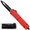 Red Spear Point OTF Out The Front Assisted Open Tactical Glass Breaker Red Handle
