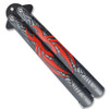 Red Spider  Balisong Butterfly Knife Black Blade