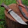 White Deer Custom Made Damascus Steel Executive Knife with Wood Handle