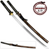 MOSHIRO 1045 High Carbon Steel Blade Glossy Black and Gold Splash Wood Scabbard. Limited Edition