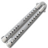 Swift Silver  Balisong  Two-Tone Titanium Coated Butterly Knife