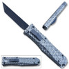 Legends Micro OTF Blade Knife Carbon Fiber Handle Out The Front Tanto Blade