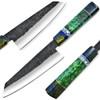 WHITE DEER 1095 Hand Forged Steel Santoku Tanto Chef Knife Japanese Resin Handle