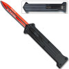 """JOKER"""" Red Single Edge OTF Knife Out The Front Limited Edition"""