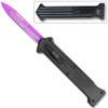 """The """"JOKER"""" Purple Single Edge OTF Knife Out The Front Limited Edition"""