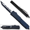Slim Black Tanto Point OTF Knife  Assisted Open Tactical Glass Breaker