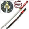 MOSHIRO 1045 STEEL Steel Red  Dragon Scabbard