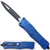 Spear Edge Blue Flagship OTF Knife Double Edge Blade
