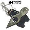 """MTech USA  CAMOUFLAGE  NECK KNIFE 4.25"""" OVERALL"""