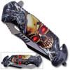 3D Printed Spring Assisted Skull Pocket Knife