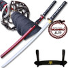 MOSHIRO 1045 High Carbon Steel Red  Glossy Scabbard