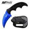 "MTech USA BLUE FIXED BLADE KNIFE 5"" OVERALL"