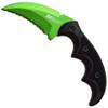 "MTech USA GREEN FIXED BLADE KNIFE 5""OVERALL"