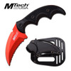 """MTech USA RED FIXED BLADE KNIFE 5""""OVERALL"""