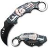Automatic Krambit Knife 3D Printed Skeleton & Skull Pocket Knife