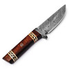 WHITE DEER Damascus Steel Executive Knife With Cocobolo Wood Handle