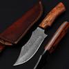 White Deer Custom Made Damascus Military Fix Blade Full Tang Knife