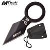 MTECH USA FIXED BLADE NECK KNIFE BLACK