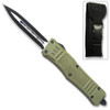 NEW Green Legacy OTF Knife Spear Point, Double Edged Blade