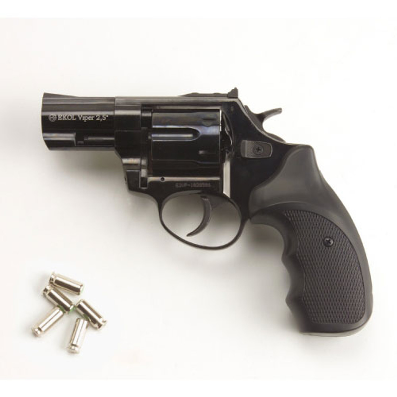 Viper 2 5 Barrel 9mm Blank Firing Revolver Black Finish (CLONE of Taurus  605  357 magnum)