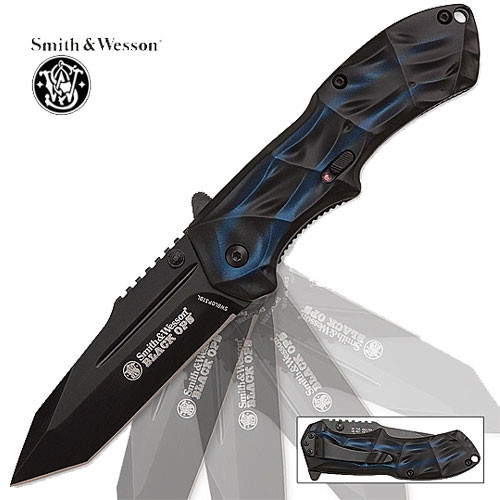 Spring Assist - S&W Black Operations - Tanto Point Blue