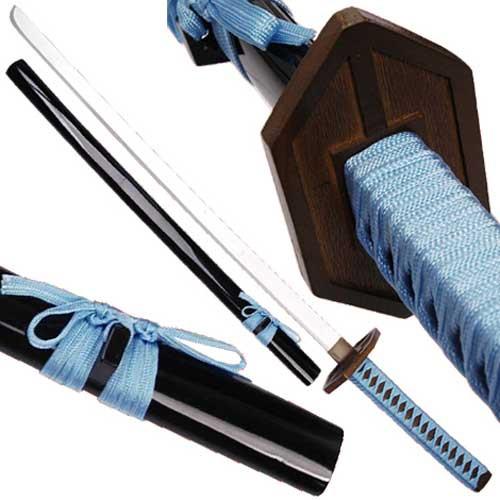 Aizen Sousuke Darker Anime Wooden Sword Replica   Blue