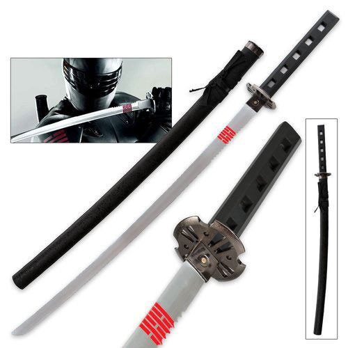 GI Joe Snake Eyes Full Tang Sword Replica