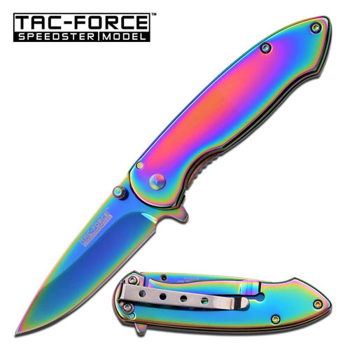 TAC-FORCE  SPRING ASSISTED KNIFE TITANIUM COATED