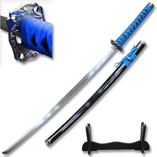 "SAMURAI KATANAS SWORD BLUE COME W/TABLE STAND 40 "" Overall"