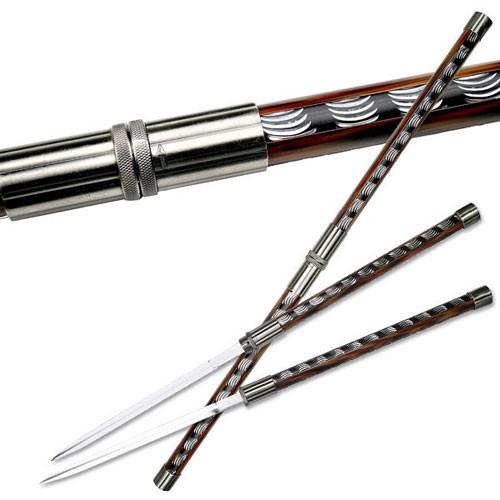 Double Blade Ninja Sword With Lock.