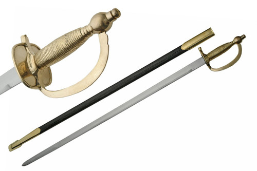 United States Army NCO Sword with Leather Scabbard