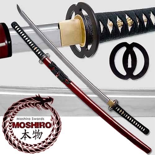 MOSHIRO - 1060 Carbon Steel - Best Miyamoto Sword Red