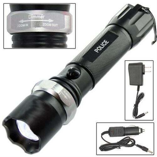 Police Tactical LED Weatherproof Flashlight