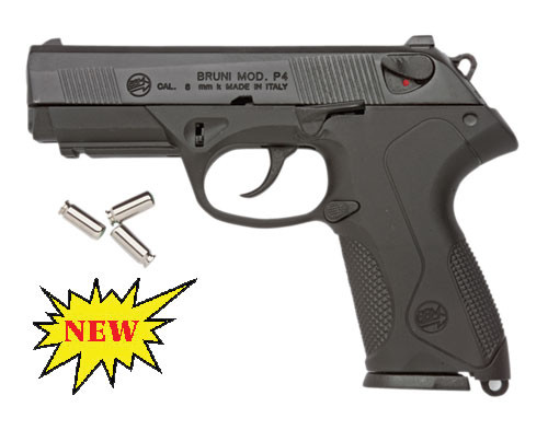 Replica P4 Automatic Blank Firing Gun Black Finish (Beretta PX4 CLONE)